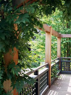 I like the idea of building a half-fence around part of the deck - makes the patio area seem more intimate