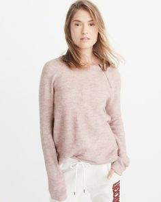 A&F Women's Pullover Zipper Crew Sweater