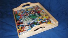 Comic Book Tray by AmsNetherRealmRelics on Etsy Perfect decor or gift for Marvel lovers. Avengers Forever comics.
