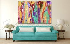 Large Abstract Wall Art Colorful Abstract by JuliaApostolova