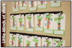 Little Minds at Work: Chicka Chicka Boom Boom Name Tree