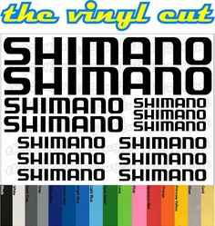 Shimano Die-cut decal / sticker sheet (cycling, mtb, bmx, road, bike) #Shimano
