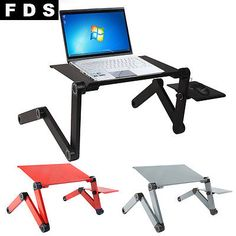 Portable Folding Laptop Desk Adjustable Computer Table Stand Tray For Bed Sofa - http://www.computerlaptoprepairsyork.co.uk/laptop/portable-folding-laptop-desk-adjustable-computer-table-stand-tray-for-bed-sofa-2