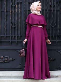 Latest Fashion Cape Style Abaya with Hijab Fashion – Girls Hijab Style & Hijab Fashion Ideas Hijab Mode, Abaya Mode, Abaya Fashion, Muslim Fashion, Fashion Dresses, Fashion Cape, Modest Dresses, Modest Outfits, Dress Outfits