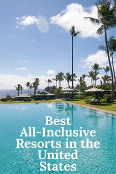 Although all-inclusive resorts are less popular in the United States than Mexico or Caribbean islands, there are some available for travelers who want to simplify their vacation. From Hawaii to New Ha Best Vacations For Couples, Vacations In The Us, Couples Vacation, Free Vacations, Romantic Vacations, Romantic Travel, Vacation Trips, Summer Vacation Ideas, Romantic Weekend Getaways