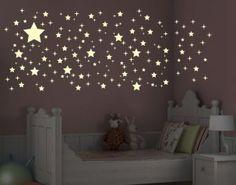 Kinderzimmer sternenhimmel  Leucht-Wandtattoo-Set Romantischer Sternenhimmel | Wandtattoos ...