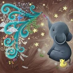 Copyright Ashley Erickson 2012 © This is probably my favourite piece to date. I used acrylic on canvas. I painted this for my friends little baby boy. It is going to hang in his nursery . EDIT: fix...