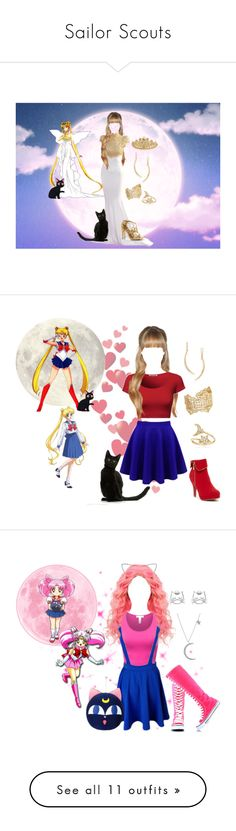 Sailor Scouts by melissa-f on Polyvore featuring polyvore fashion style Swarovski mizuki Ross-Simons Tory Burch IaM by Ileana Makri clothing Top Guy Anita Ko LIST AX Paris Moschino Zara Jules Smith Tai Forum Notte by Marchesa Gianvito Rossi Pernille Corydon Betsey Johnson Oasis Off-White T By Alexander Wang ASOS BERRICLE Social Anarchy Delicates by Paloma & Ellie Forever 21 RGB Coast Rebecca Minkoff Givenchy Deborah Lippmann NOVICA Anna Sui Tosca Blu Marc by Marc Jacobs Topshop Alexander…