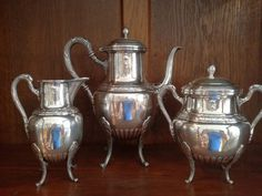 Antique Silver Plate Tea Coffee Set French by TheNeroAntiquesShop