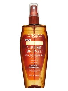Sunless Tanner    Build a natural-looking tan without baking in the sun: Rub it on daily for a gradually developing hint of color. L'Oréal Paris Sublime Bronze Clear Self-Tanning Gel, $7.99;