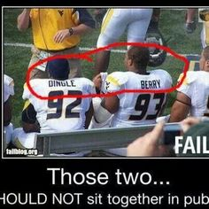 These 2 football players should NEVER sit beside each other. EVER again.