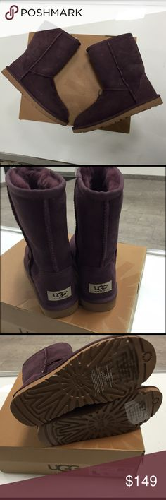 Ugg purple short classic boots size 5 new Ugg purple short classic boots size 5 new with box...100%authentic UGG Shoes Winter & Rain Boots