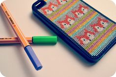 Cross Stitch iPhone Case - Fox | Flickr - Photo Sharing!