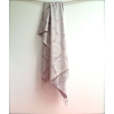 Champne and Gray Two Sided Shawl, Semi-Gloss Silk Looking Scarf,... (€21) ❤ liked on Polyvore featuring accessories, scarves, floral scarves, shawl scarves, woven scarves, holiday scarves and floral shawl