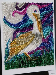 Mardi Gras Bead Art by CourtlynsCreations on Etsy, $400.00