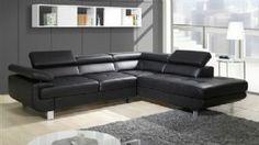 Daknress II Black Corner Sofa Bed with huge storage Modern Sectional, Sectional Sofa, Cheap Double Beds, Bathroom Furniture, Furniture Sets, Black Corner Sofa, Sofa Bed, Couch, White Leather Sofas