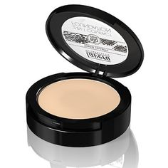 Lavera 2 In1 Compact Foundation (Ivory #1), Natural Skin-Perfecting, Transparent, Light To Heavy Coverage (Gives Fair To Medium Skin Tones) 10g/0.3oz. 10g/0.3oz. 2 In 1 Compact Foundation.