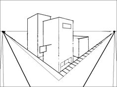 Perspective Drawing for Middle School | one point perspective and point perspective drawn using and tutorials