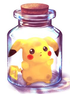 Anime / Manga Kawaii Pokemon Pikachu Sealed In A Bottle