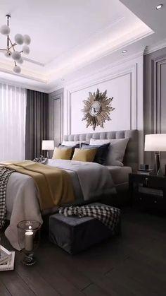 Modern Luxury Bedroom, Luxury Bedroom Design, Bedroom Furniture Design, Home Room Design, Master Bedroom Design, Luxurious Bedrooms, Living Room Designs, Bedroom Decor For Couples, Room Decor Bedroom
