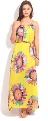 Heart 2 Heart Women's Maxi Dress - Buy YELLOW Heart 2 Heart Women's Maxi Dress Online at Best Prices in India | Flipkart.com #Maxi #Dresses #India