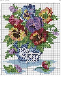 Cross Stitch Fruit, Cross Stitch Kitchen, Cross Stitch Borders, Cross Stitch Rose, Cross Stitch Flowers, Cross Stitch Charts, Counted Cross Stitch Patterns, Cross Stitch Designs, Cross Stitching