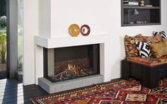 Tulp B-fire 100 Hoog Hoek - Product Foyers, Home Fireplace, Fireplace Ideas, Gas Fires, Premium Wordpress Themes, Decoration, Showroom, New Homes, Corner