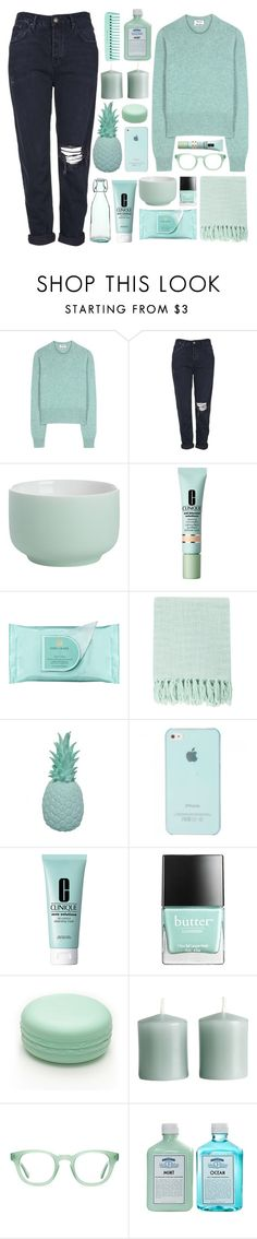 """""""Untitled #315"""" by dana-rachel ❤ liked on Polyvore featuring Acne Studios, Topshop, CB2, Clinique, Estée Lauder, Surya, Ananas, Butter London, Forever 21 and H&M"""