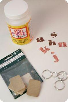 little lovelies: tutorial: monogram key chain