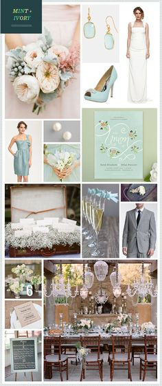 Love the placecards/favors in babys breath in suitcase, the bouquet, and colors