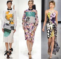 Photographic florals print trend 2012. Julian Louie, Dries Van Noten and Mary Katranzou