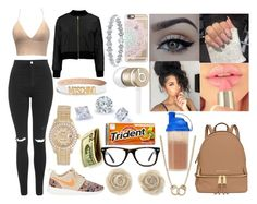 """""""Sessy"""" by aaliyahsalmon ❤ liked on Polyvore featuring Beats by Dr. Dre, MICHAEL Michael Kors, Casetify, Muse, Topshop, NIKE, xO Design, Rolex, Sugar NY and Moschino"""