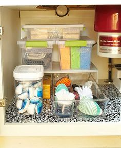 Kitchen Sink Organizer Ideas 50 organizing ideas for every room in your house | small bathroom