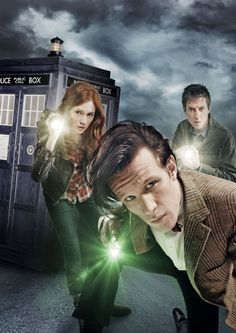Amy Pond (Karen Gillan), The Doctor (Matt Smith), Rory Williams (Arthur Darvill)