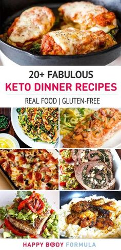 20+ Fabulous Keto Dinner Recipes (low-carb high-fat, lchf, real food, primal, gluten-free dishes)
