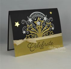 Birthday Blast -- Celebrate You! by mickeyinpsj - Cards and Paper Crafts at Splitcoaststampers 80th Birthday Cards, Birthday Blast, Happy New Year Cards, Star Cards, Graduation Cards, Graduation Ideas, Die Cut Cards, Congratulations Card, Christmas Cards