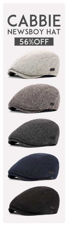 56%OFF&Free shipping. Newsboy Hat, Cabbie Hat, Men's Cotton Wool Gatsby Beret Cap, Golf Driving Flat. Color: Black, Beige, Dark Grey, Navy, Coffee. Shop now~