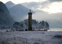 Frosty Evening at Glenfinnan Monument by Martin Lawrence