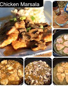 Best Chicken Marsala EVER!!! #recipe #food  #cooking