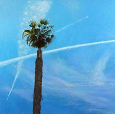 "Bradley Hankey, Runyon Canyon Sentinel, 2009. oil on canvas, 22"" x 22"""