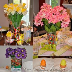 Easter decorating...several pretty ideas on this site.