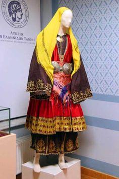 Greek Traditional Dress, Greek Apparel, Greek Clothing, Folk Costume, Macedonia, Albania, Bulgaria, Greece, Kimono Top