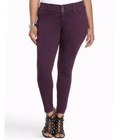 d9dacbf693fe7 Torrid Ankle Jegging Jeans Womens Plus Size 18XS Dark Purple Wash #Torrid