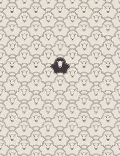 black sheep art print by Davies Babies Art And Illustration, Illustrations, Pattern Illustration, Cute Pattern, Pattern Art, Pattern Design, Textures Patterns, Print Patterns, The Odd Ones Out