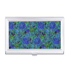 Blue Green Flower Pattern