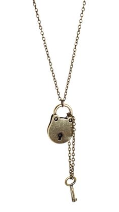 Lock and Key Necklace by Alyssa Lee      this is the key to my heart ;)