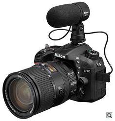 Nikon D7100 with ME-1 external microphone