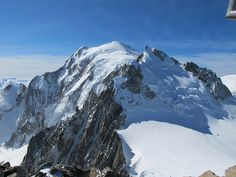 Le Mont blanc depuis le sommet du Mont blanc du Tacul, France