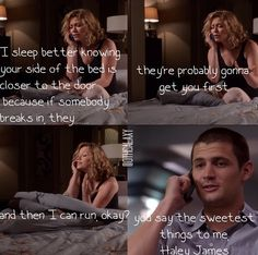 One tree hill: The sad thing is.. I have the exact same logic,
