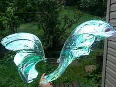 Here is my very first pair of wings, completed this morning! I used the Faerie Muse tutorialas my guide; she gives excellent details, though I admit I skimmed through some parts. (Note 9/4/2016; that tutorial has been offline for several months so I removed the link). Notes: 1. I'm a perfectionist, so I put this …